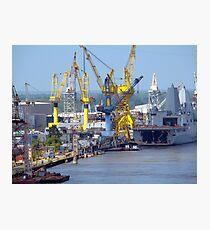 Avondale Shipyard Photographic Print