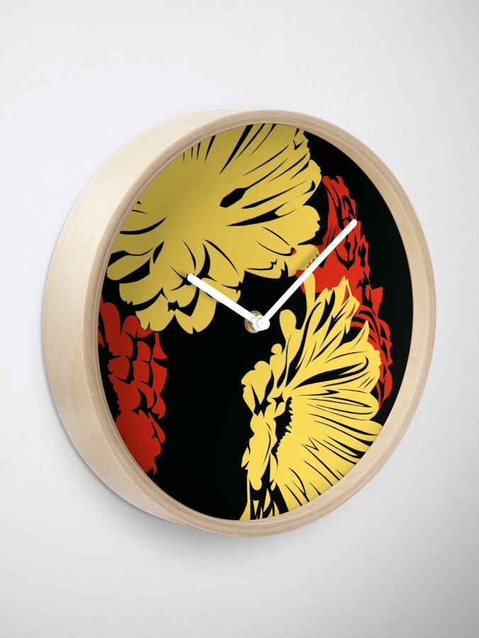 Alternate view of Flowers Clock