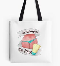 Remember Sun Screen! Tote Bag