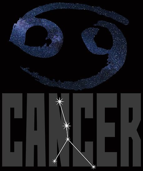 Cancer Birthday Gift With Zodiac Sign Constellation And Symbol By TrndSttr