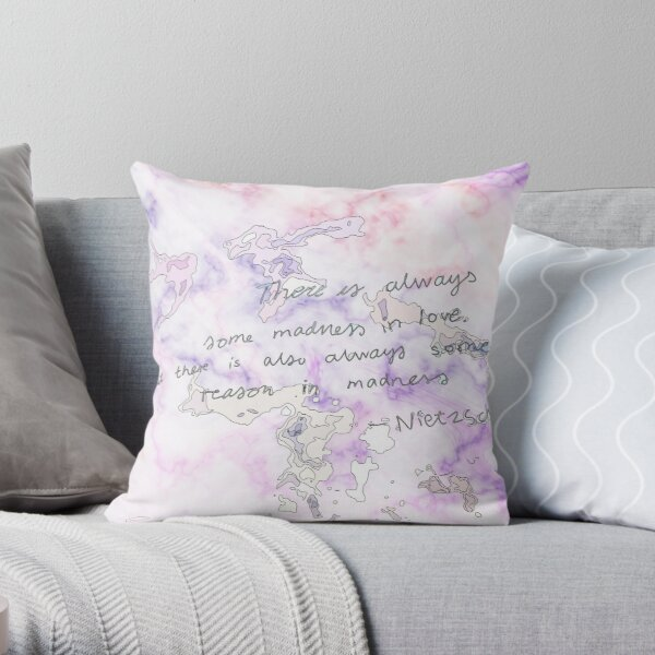 marble quote love Throw Pillow