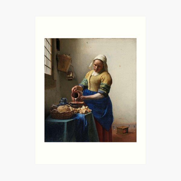 The Milkmaid - Johannes Vermeer Art Print