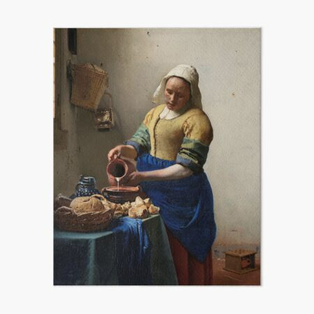 The Milkmaid - Johannes Vermeer Art Board Print