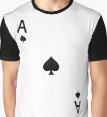 Ace of Spades- Playing Card Design Graphic T-Shirt