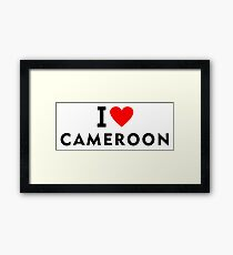 I love Cameroon country Framed Print