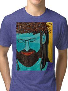 Jesus is Die Brücke Tri-blend T-Shirt