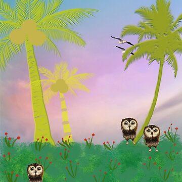 Burrowing Owls Greeting Card by posyrosie