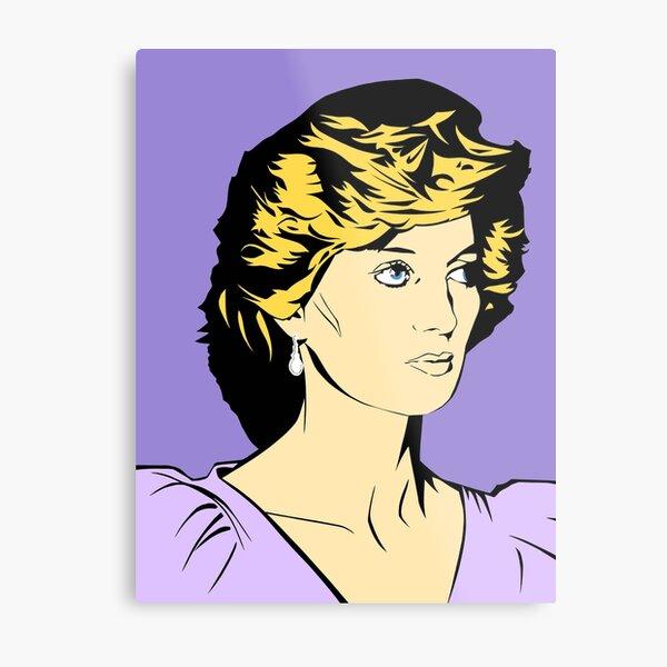 Princess Diana Queen of Hearts Metal Print