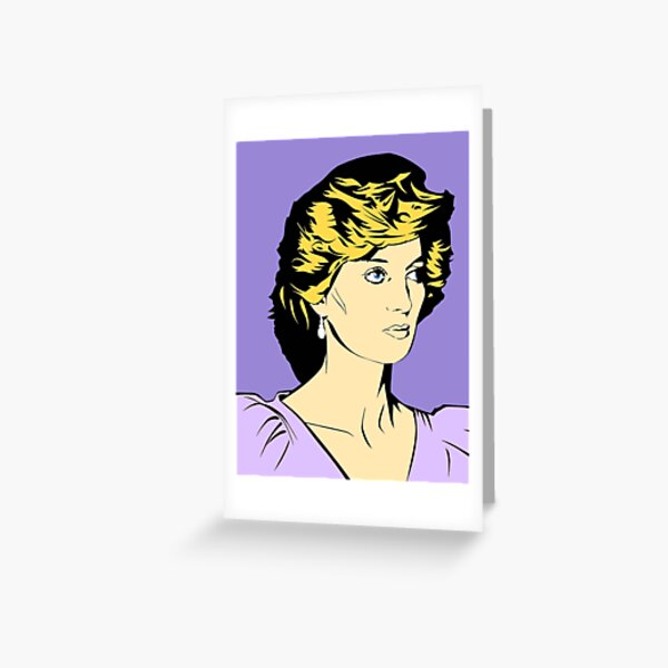 Princess Diana Queen of Hearts Greeting Card