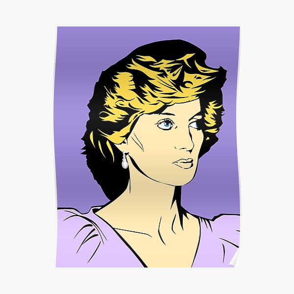 Princess Diana Queen of Hearts Poster