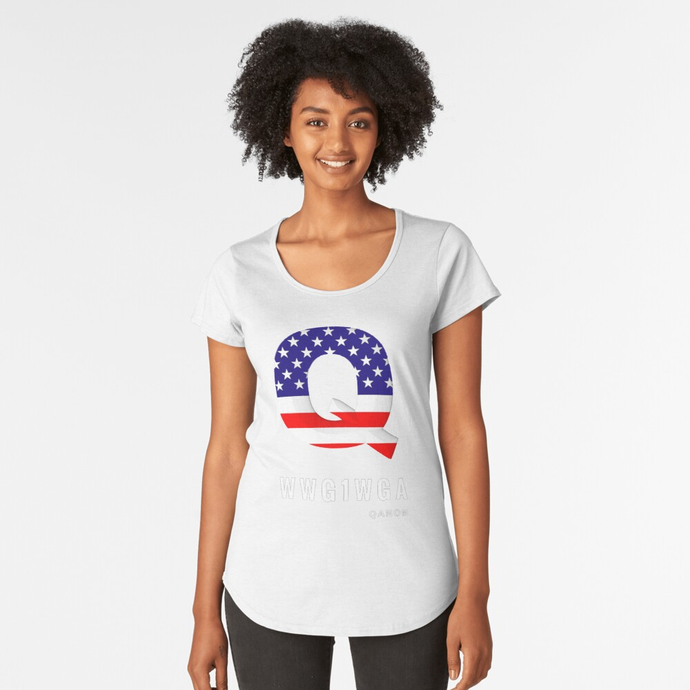 WWG1WGA Patriot Qanon T-Shirt and Apparel Women's Premium T-Shirt Front