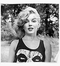Marilyn Monroe Punk Rock Music Misfits Poster