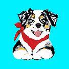 Blue Merle Aussie Pup by Barbara Applegate
