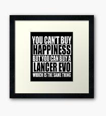 Lancer Evo Framed Print