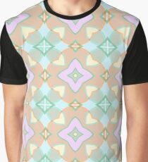 ornament the structure of the flower repeatability model symmetry seamless colorful repeat pattern Graphic T-Shirt