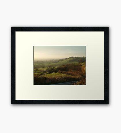 Across The Vale Framed Print