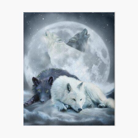 Yin Yang Wolf Mates 2 Art Board Print