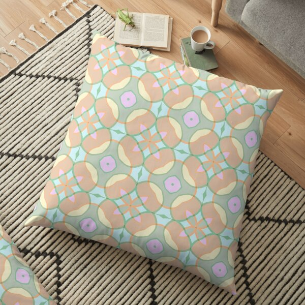 repeatability lines designs symmetry the structure of the seamless colorful repeat pattern Floor Pillow
