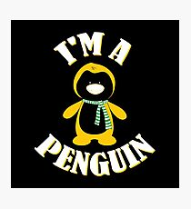 I'm a Penguin in the Winter Snow antarctic gift Photographic Print