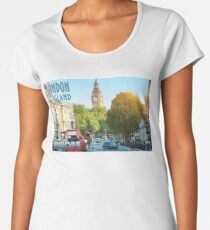Visit London - Travel Poster Women's Premium T-Shirt