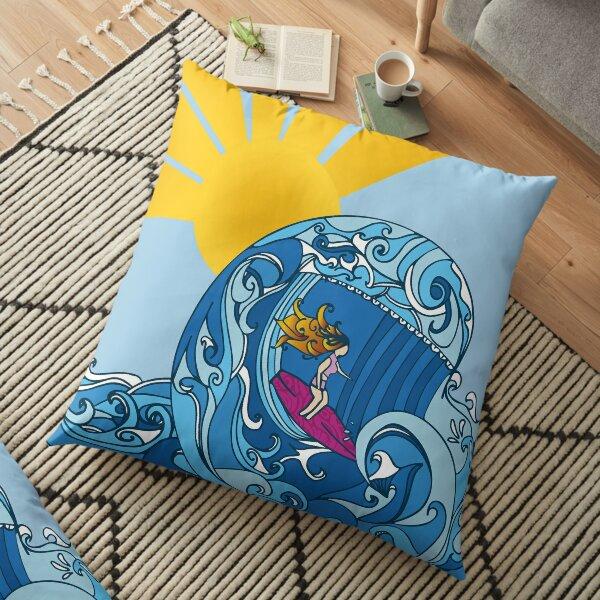 Surfer Girl  Floor Pillow