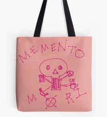 Memento Mori Drawing on Post-It  Tote Bag