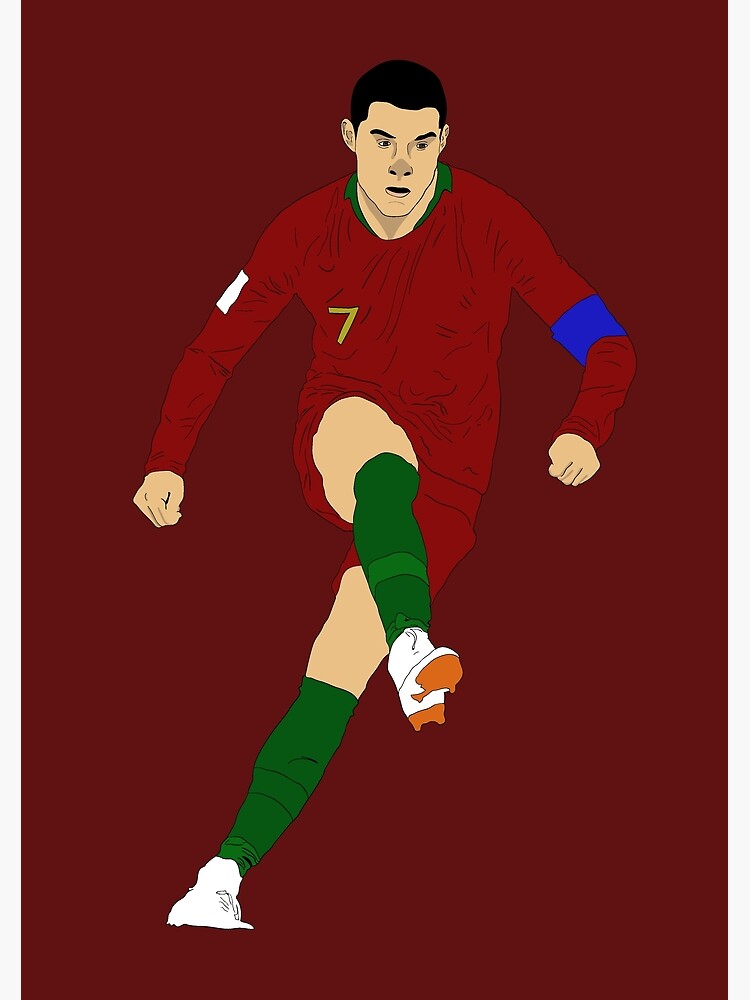 Cristian Ronaldo Design Portugal Real Madrid Illustration Cartoon T Shirt Shirt Sticker Phone Case Cr7 Greeting Card By Conartistlfc Redbubble