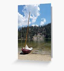 Tarjeta de felicitación Velero en el lago