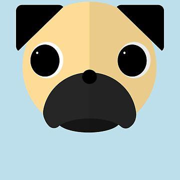 Pug Moji by Richray