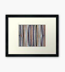 Blue, White, Brown Framed Print