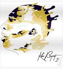 Drip-effect portrait Kobe Bryant Poster
