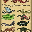 A Variety of Draconic Creatures by Richard Fay