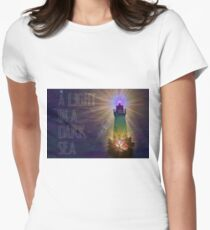 A Light in a Dark Sea Women's Fitted T-Shirt