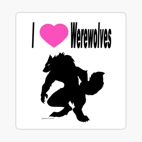 I *heart* Werewolves  Sticker