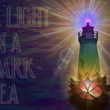A Light in a Dark Sea by AkashaV