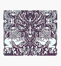 Gothic Dragon Head and Lions Photographic Print