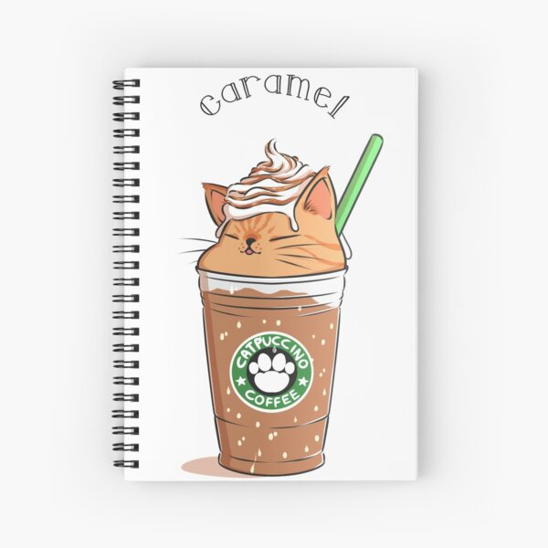 Caramel CATpuccino Spiral Notebook