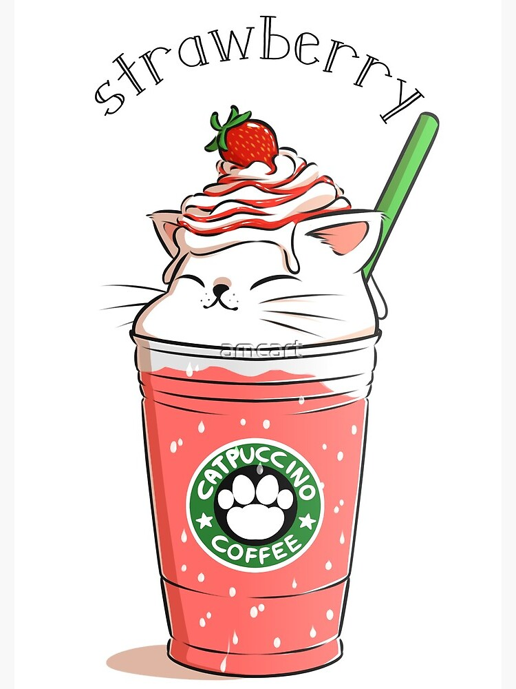 Strawberry CATpuccino by amcart