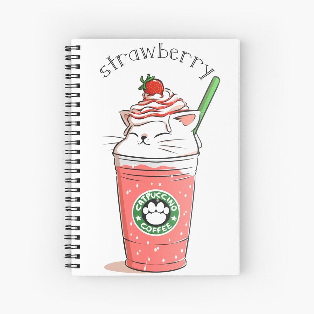 Strawberry CATpuccino Spiral Notebook