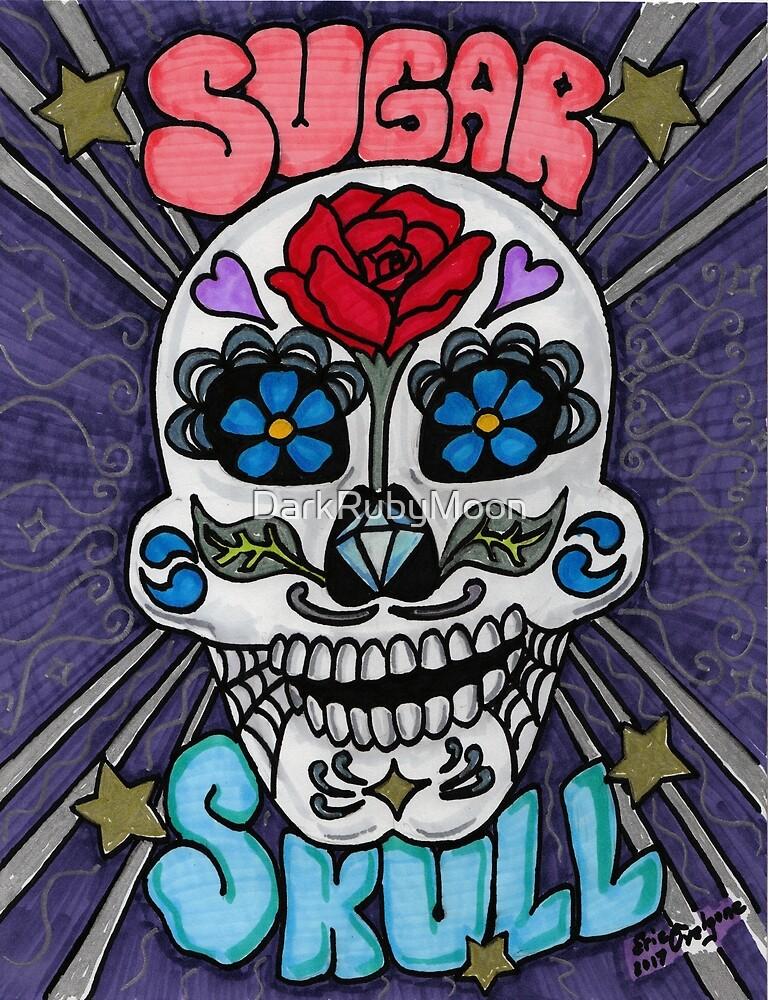 Sugar skull v2 by DarkRubyMoon