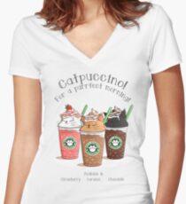 Catpuccino! Für einen perfekten Morgen! Shirt mit V-Ausschnitt