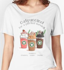 Catpuccino! For a purrfect morning! Women's Relaxed Fit T-Shirt