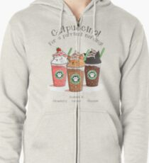 Catpuccino! For a purrfect morning! Zipped Hoodie