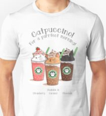 Catpuccino! For a purrfect morning! Unisex T-Shirt