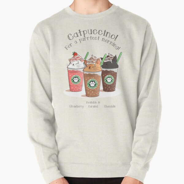 Catpuccino! For a purrfect morning! Pullover Sweatshirt