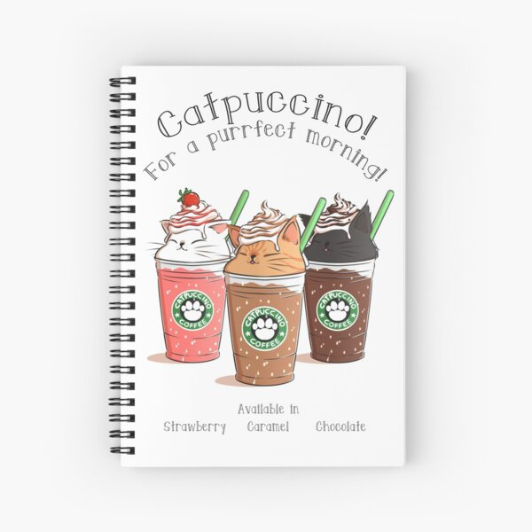 Catpuccino! For a purrfect morning! Spiral Notebook