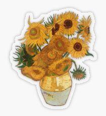 Pegatina transparente Girasoles de Van Gogh