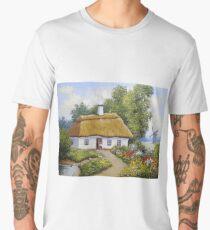 Oil paintings rural landscape. Fine art. Men's Premium T-Shirt