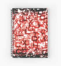 Letters Poster Red Spiral Notebook