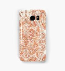 Autumn Peach Art Nouveau Pattern Samsung Galaxy Case/Skin